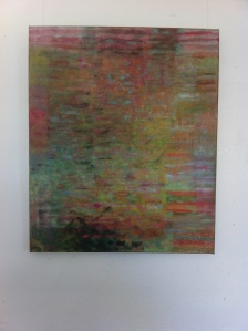 Mazie Turner Self Made Tapestry no. 3 oil on Belgian linen part of the Seven exhibition at Nobby's Lighthouse